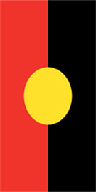 Hire Banner Flags Aboriginal Vertical Flag Dispaly By adwareflags.com